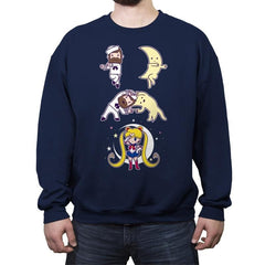 Sailor + Moon - Crew Neck Sweatshirt - Crew Neck Sweatshirt - RIPT Apparel