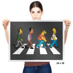 The Moes on Abbey Road - Prints - Posters - RIPT Apparel