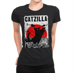 Catzilla City Attack - Womens Premium - T-Shirts - RIPT Apparel