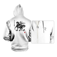 Wild Hunter sumi-e - Hoodies - Hoodies - RIPT Apparel