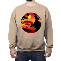 King Lion - Crew Neck Sweatshirt - Crew Neck Sweatshirt - RIPT Apparel