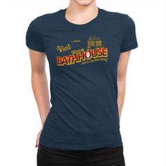 Visit the Bathhouse - Womens Premium - T-Shirts - RIPT Apparel