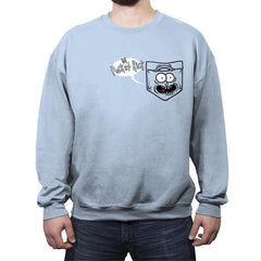 Pocket Rick - Crew Neck Sweatshirt - Crew Neck Sweatshirt - RIPT Apparel