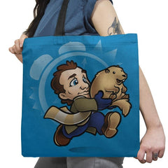 Super Groundhog Bros Exclusive - Tote Bag - Tote Bag - RIPT Apparel
