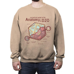Anatomy of the D20 - Crew Neck Sweatshirt - Crew Neck Sweatshirt - RIPT Apparel