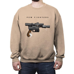 Pew Fighters - Crew Neck Sweatshirt - Crew Neck Sweatshirt - RIPT Apparel