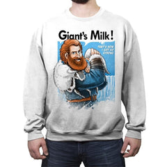 Giant's Milk! - Crew Neck Sweatshirt - Crew Neck Sweatshirt - RIPT Apparel