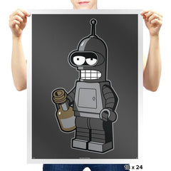 Mini Bendingbot Exclusive - Brick Tees - Prints - Posters - RIPT Apparel