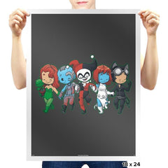 Villainous BFFs - Miniature Mayhem - Prints - Posters - RIPT Apparel