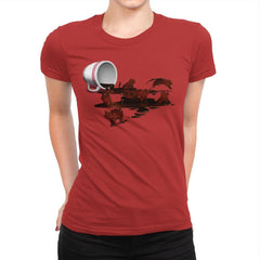Coffee Cat - Womens Premium - T-Shirts - RIPT Apparel