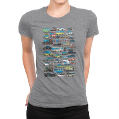 Famous Cars - Anytime - Womens Premium - T-Shirts - RIPT Apparel