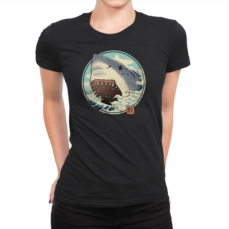 White Shark Attack! - Womens Premium - T-Shirts - RIPT Apparel