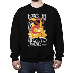 Book Dragon - Crew Neck Sweatshirt - Crew Neck Sweatshirt - RIPT Apparel