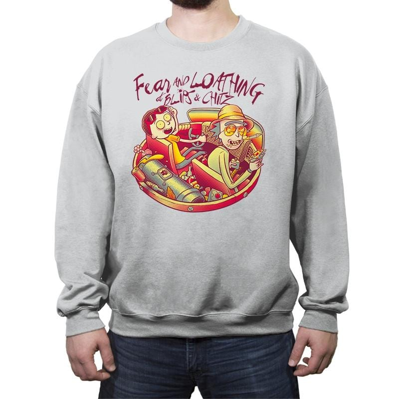 Fear and Loathing at Blips & Chitz - Crew Neck Sweatshirt - Crew Neck Sweatshirt - RIPT Apparel