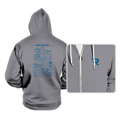 Time Machine Technical Blueprint - Hoodies - Hoodies - RIPT Apparel