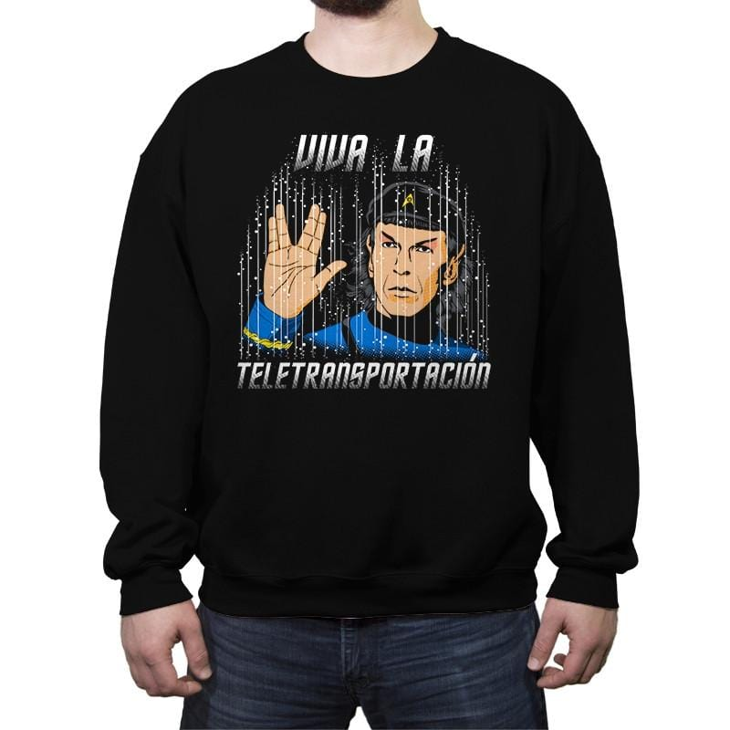 Viva la Teletransportación - Crew Neck Sweatshirt - Crew Neck Sweatshirt - RIPT Apparel