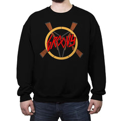 Groovy Demon Slayer - Crew Neck Sweatshirt - Crew Neck Sweatshirt - RIPT Apparel