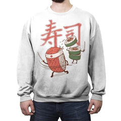 Sushi Warrior - Crew Neck Sweatshirt - Crew Neck Sweatshirt - RIPT Apparel