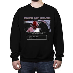 Galactic Quest Simulator - Crew Neck Sweatshirt - Crew Neck Sweatshirt - RIPT Apparel