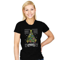 A Classic Gamers Christmas - Ugly Holiday - Womens - T-Shirts - RIPT Apparel