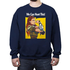 We Can Hunt This! - Crew Neck Sweatshirt - Crew Neck Sweatshirt - RIPT Apparel