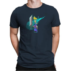 The Blocky Hero of Midgar Exclusive - Mens Premium - T-Shirts - RIPT Apparel