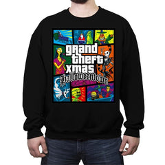 Grand Theft Xmas: Halloweentown - Crew Neck Sweatshirt - Crew Neck Sweatshirt - RIPT Apparel