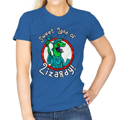Sweet land of Lizardy - Womens - T-Shirts - RIPT Apparel