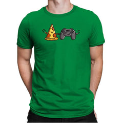 Pizza and Games - Mens Premium - T-Shirts - RIPT Apparel
