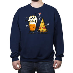 Beer and Pizza - Crew Neck Sweatshirt - Crew Neck Sweatshirt - RIPT Apparel