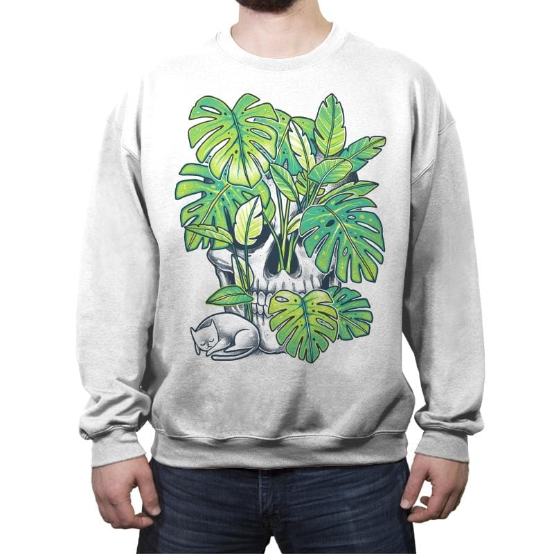 Plant Skull - Crew Neck Sweatshirt - Crew Neck Sweatshirt - RIPT Apparel