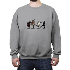Walking Towards The Grail - Crew Neck Sweatshirt - Crew Neck Sweatshirt - RIPT Apparel