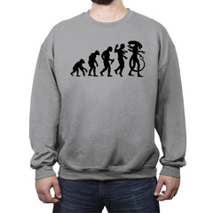 Silicon-Based Evolution - Crew Neck Sweatshirt - Crew Neck Sweatshirt - RIPT Apparel
