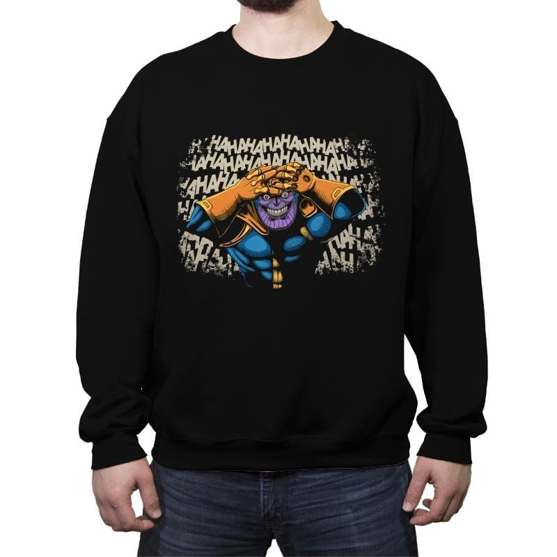 The Titan Who Laughs - Crew Neck Sweatshirt - Crew Neck Sweatshirt - RIPT Apparel