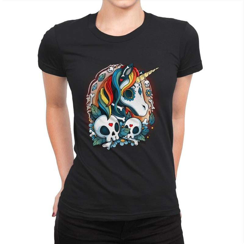 Sweet Unicorn Cammeo - Womens Premium - T-Shirts - RIPT Apparel