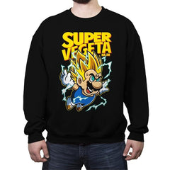 Super Vegeta Bros - Crew Neck Sweatshirt - Crew Neck Sweatshirt - RIPT Apparel