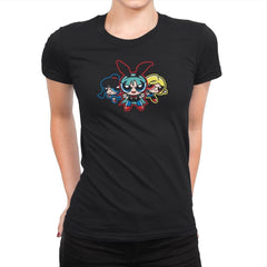 Dragonpuff Girls - Kamehameha Tees - Womens Premium - T-Shirts - RIPT Apparel