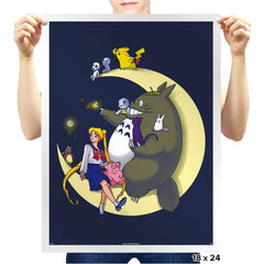 Moonlight Buddies - Prints - Posters - RIPT Apparel