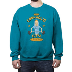 Cornholio's Gym - Crew Neck Sweatshirt - Crew Neck Sweatshirt - RIPT Apparel
