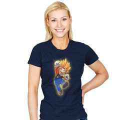 Super Mario Saiyan - Womens - T-Shirts - RIPT Apparel