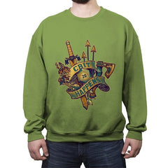 Crit Happens (20) - Crew Neck Sweatshirt - Crew Neck Sweatshirt - RIPT Apparel