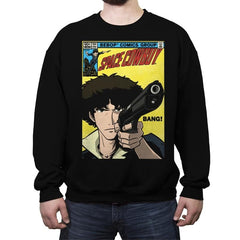 Space Comic - Crew Neck Sweatshirt - Crew Neck Sweatshirt - RIPT Apparel