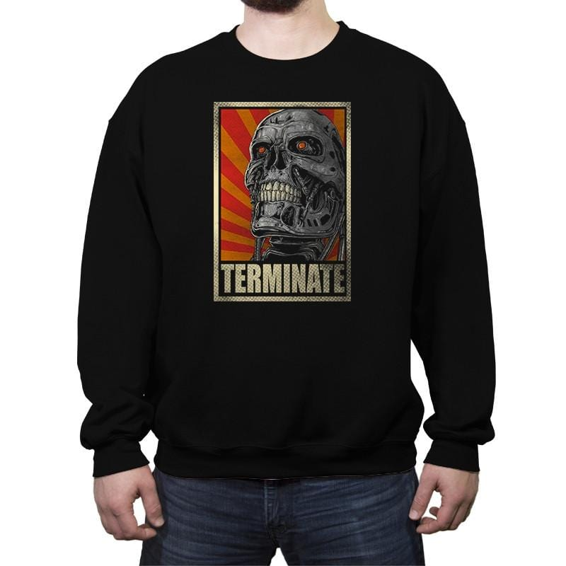 TERMINATE! - Crew Neck Sweatshirt - Crew Neck Sweatshirt - RIPT Apparel