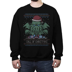 Call Of Christmas - Ugly Holiday - Crew Neck Sweatshirt - Crew Neck Sweatshirt - RIPT Apparel