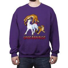 Unicarnage - Crew Neck Sweatshirt - Crew Neck Sweatshirt - RIPT Apparel