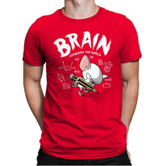 Brain Conquers The World! - Raffitees - Mens Premium - T-Shirts - RIPT Apparel