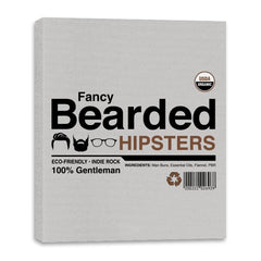 Fancy Bearded Hipster - Canvas Wraps - Canvas Wraps - RIPT Apparel