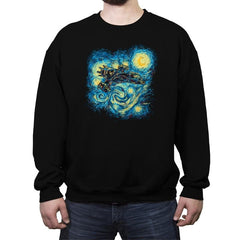 Starry Flight Reprint - Crew Neck Sweatshirt - Crew Neck Sweatshirt - RIPT Apparel