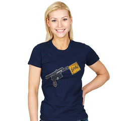 Han Shot First  - Womens - T-Shirts - RIPT Apparel