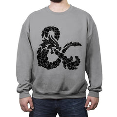 Dice & Dragons - Crew Neck Sweatshirt - Crew Neck Sweatshirt - RIPT Apparel